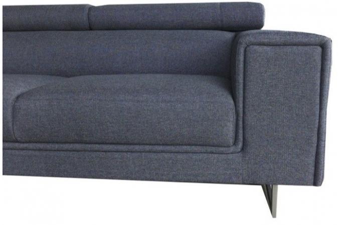 canap d 39 angle droit gris en tissu bartolo canap d 39 angle pas cher. Black Bedroom Furniture Sets. Home Design Ideas