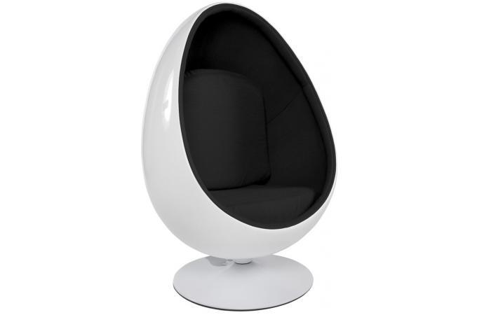 Fauteuil bicolore en tissu ziad fauteuil design pas cher - Fauteuil en forme d oeuf pas cher ...