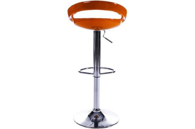 tabouret de bar orange en abs zigor tabouret de bar pas cher. Black Bedroom Furniture Sets. Home Design Ideas