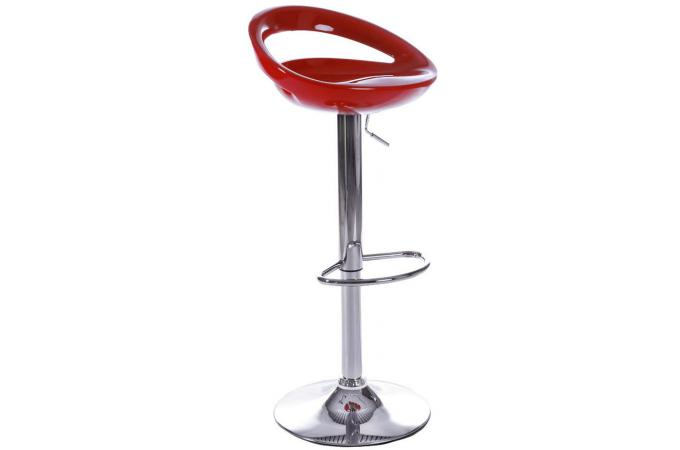 tabouret de bar rouge en abs zigor tabouret de bar pas cher. Black Bedroom Furniture Sets. Home Design Ideas
