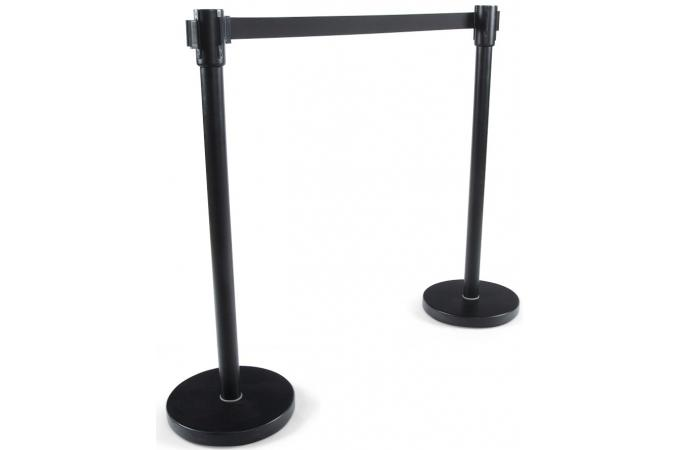 Potelet noir en métal ziprian accessoire caisson bureau pas cher