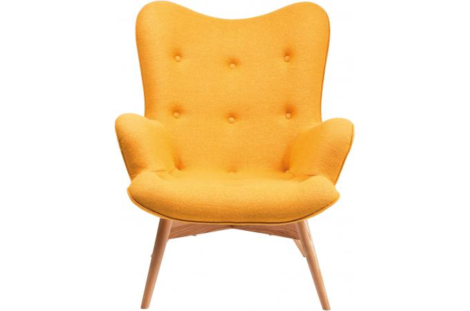 Fauteuil Jaune En Laine Mathilde Fauteuil Design Pas Cher - Fauteuil jaune solde