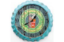 Horloge Design Horloge murale bleue en bois Renalde, deco design