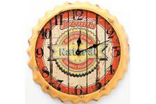 Horloge Design Horloge murale jaune en bois Renalde, deco design