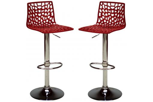 PACK de 2 chaises de bar moderne ajustable SPARTE