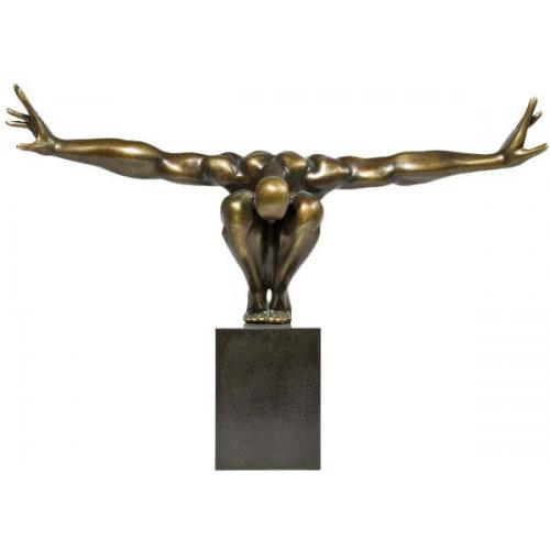 Sculpture bronze athlete