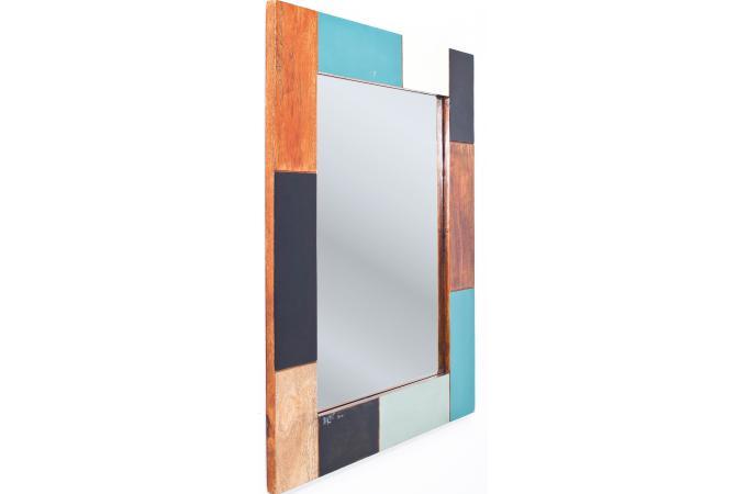 Miroir en bois kare design miroir rectangulaire pas cher for Miroir bois pas cher