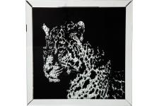 Tableau Frame Mirror Leopard - Collection deco africaine ethnique