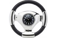 Horloge Steering Wheel - Horloge design noire