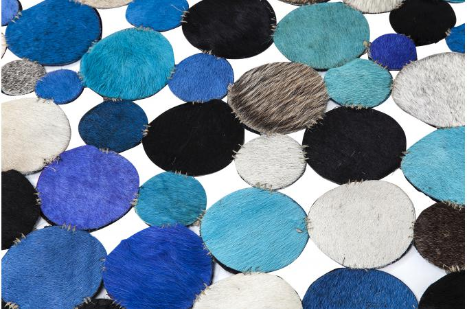 tapis circulaire multi bleu 150 cm tapis rond pas cher. Black Bedroom Furniture Sets. Home Design Ideas
