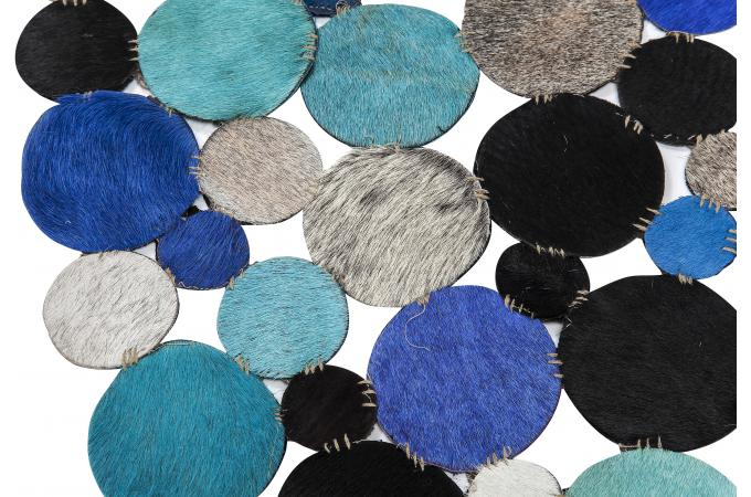 tapis circulaire multi bleu 250 cm tapis rond pas cher. Black Bedroom Furniture Sets. Home Design Ideas