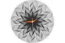 Horloge Glass Stream - Horloge blanche design