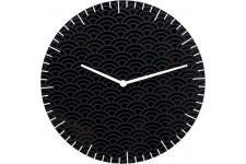 Horloge Design Horloge Glass Clouds Noire, deco design