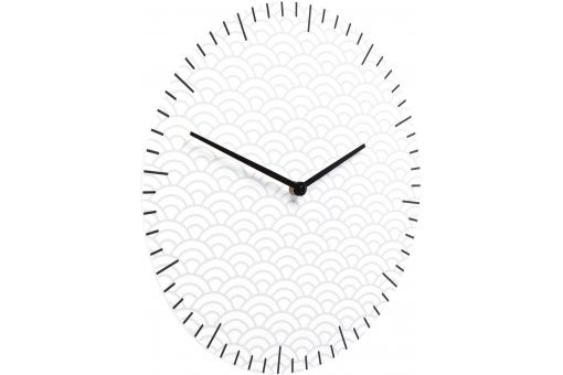 Horloge Glass Clouds Blanche
