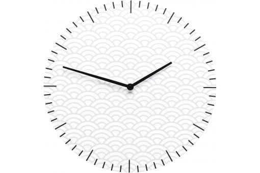 Horloge Glass Clouds Blanche - Horloge design