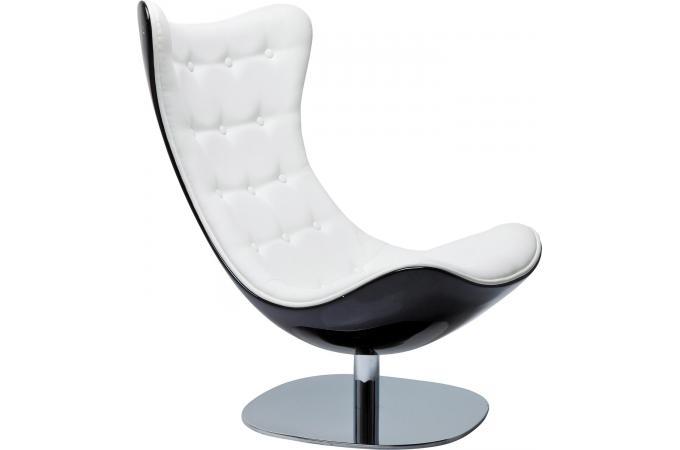 Fauteuil atrio deluxe noire et blanche fauteuil design for Chaise confortable pas cher