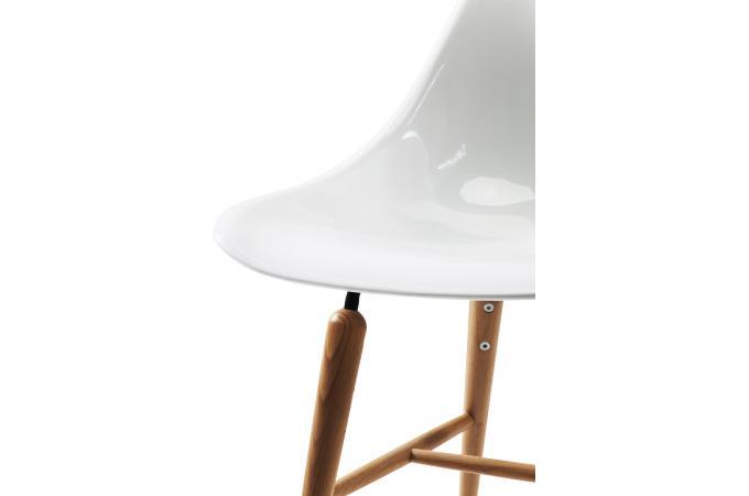 Chaise forum blanche r sine design chaise design pas cher - Chaise resine blanche ...