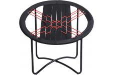 Chaise Design Chaise Bungee Noire, deco design
