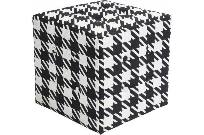 pouf damier noir et blanc pouf design pouf g ant pas cher. Black Bedroom Furniture Sets. Home Design Ideas
