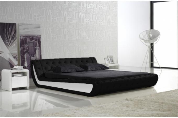 Lit capitonn bella 140cm noir lit design pas cher - Lit designe pas cher ...