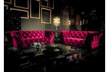 Canapé 2 places Kingdom rouge - Canape chesterfield rouge