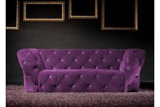 Canapé 3 place Kingdom violet - Canape chesterfield violet