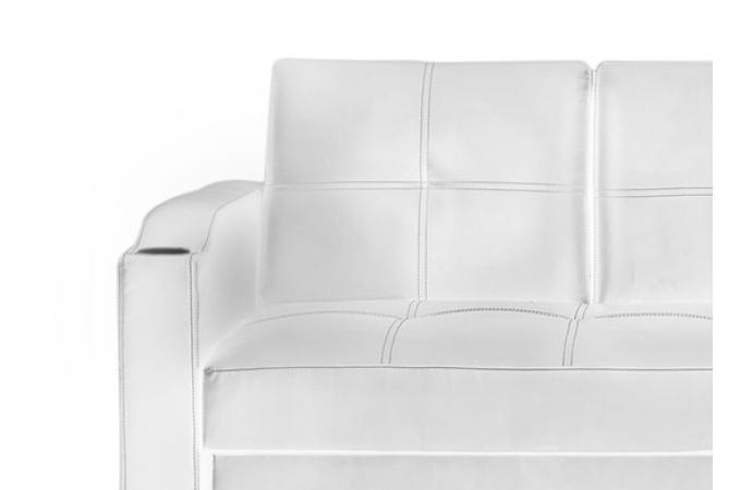 Canap convertible napoli blanc 3 canap chesterfield - Canape chesterfield blanc pas cher ...