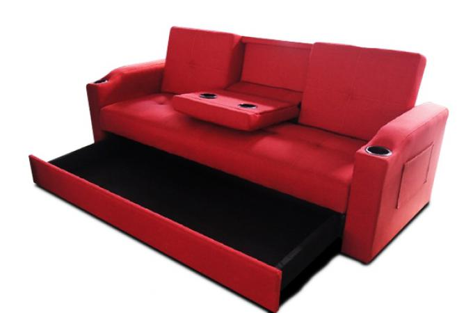 canap convertible napoli rouge 3 canap chesterfield. Black Bedroom Furniture Sets. Home Design Ideas
