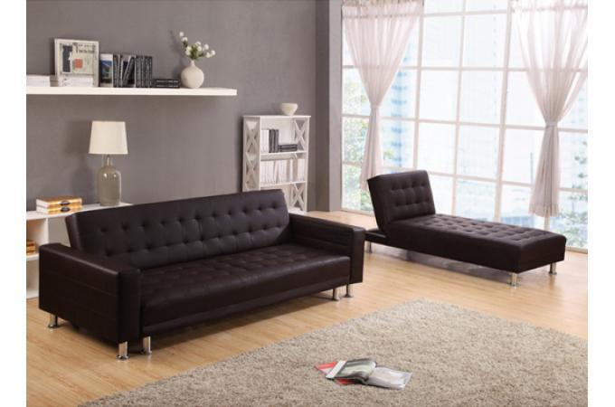 canap d 39 angle convertible marron rio canap. Black Bedroom Furniture Sets. Home Design Ideas