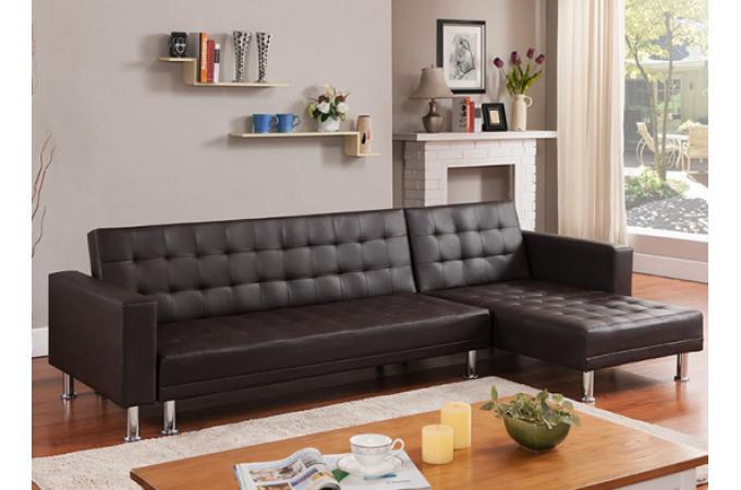 canap d 39 angle convertible marron rio canap chesterfield pas cher. Black Bedroom Furniture Sets. Home Design Ideas