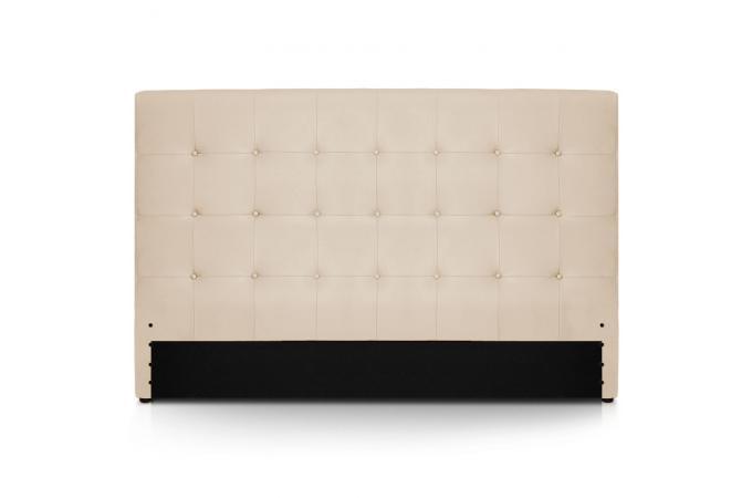 t te de lit 180 beige en simili yaren t te de lit pas cher. Black Bedroom Furniture Sets. Home Design Ideas