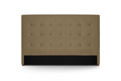 t te de lit 180 taupe en simili yaren t te de lit pas cher. Black Bedroom Furniture Sets. Home Design Ideas