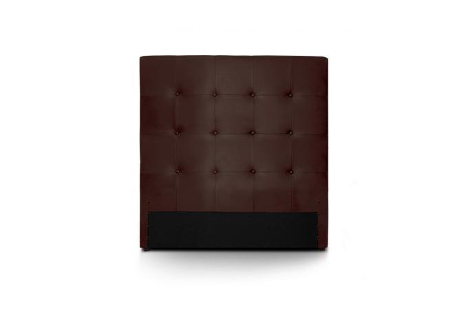 t te de lit 90 marron en simili yaren t te de lit pas cher. Black Bedroom Furniture Sets. Home Design Ideas