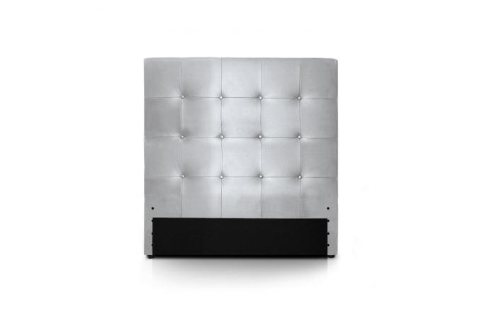 t te de lit 90 argent e en simili yaren t te de lit pas cher. Black Bedroom Furniture Sets. Home Design Ideas