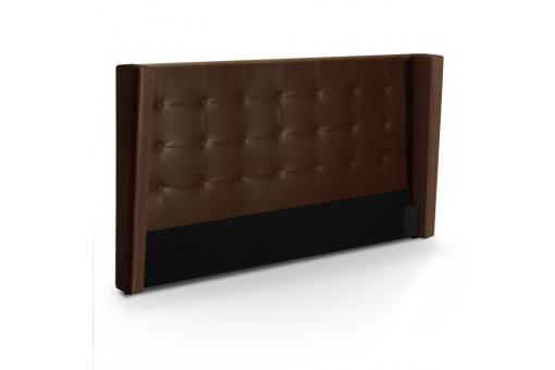 T te de lit 160 marron en imitation cuir vilnius t te de - Creer une tete de lit pas cher ...