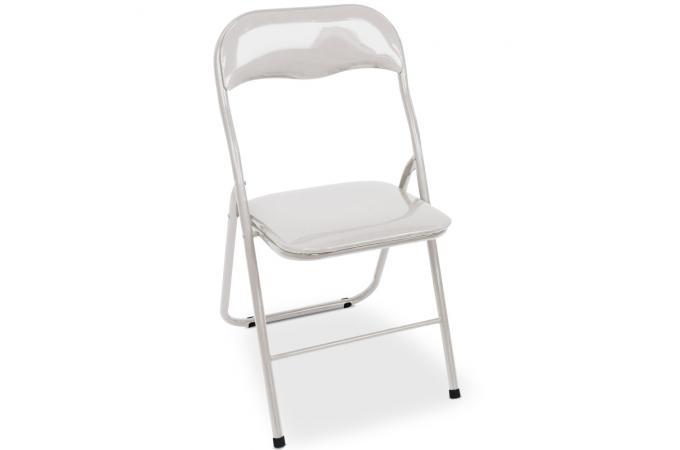 Description - Chaise pliante blanche pas cher ...