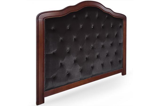 t te de lit 140 noire en bois san salvador t te de lit pas cher. Black Bedroom Furniture Sets. Home Design Ideas