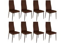 Lot de 8 chaises marrons en métal San José - Chaise marron design