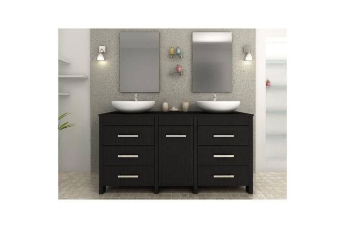 meuble salle de bain gris fonce. Black Bedroom Furniture Sets. Home Design Ideas