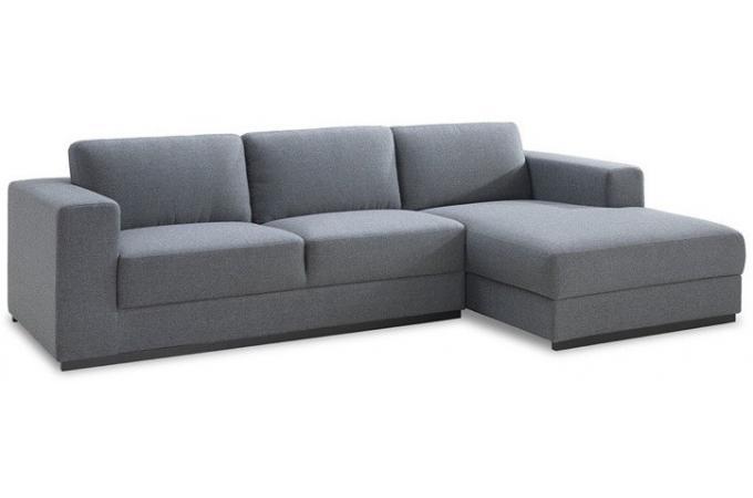 canap d 39 angle droit gris en tissu baldwin canap d 39 angle pas cher. Black Bedroom Furniture Sets. Home Design Ideas