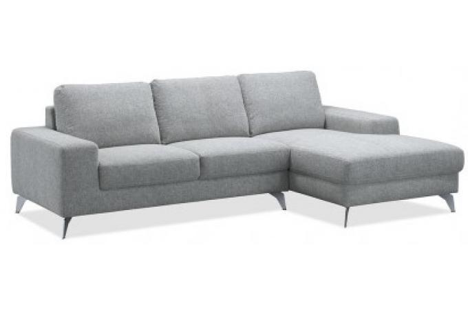 canap d 39 angle droit gris clair en tissu brandon canap d 39 angle pas cher. Black Bedroom Furniture Sets. Home Design Ideas