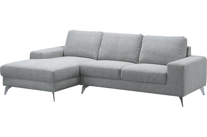 canap d 39 angle gauche gris clair en tissu brandon canap. Black Bedroom Furniture Sets. Home Design Ideas