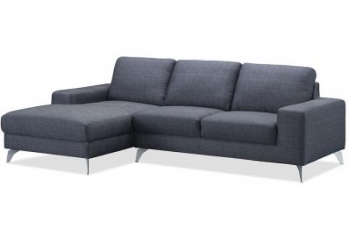 canap d 39 angle gauche gris chablis en tissu brandon canap d 39 angle pas cher. Black Bedroom Furniture Sets. Home Design Ideas