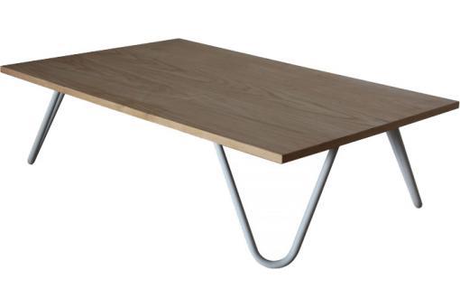 Table basse marron ch ne en m tal bess table basse pas cher - Table basse en chene pas cher ...