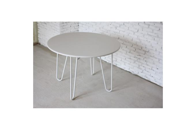 Table ronde blanche en m tal b n dicte table basse pas cher - Table basse blanche pas chere ...