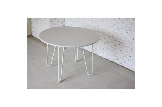 table ronde blanche en m tal b n dicte table basse pas cher. Black Bedroom Furniture Sets. Home Design Ideas