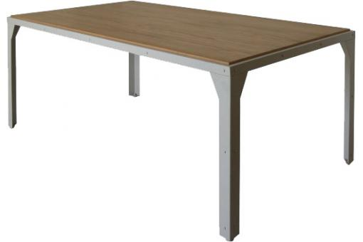 Table marron chêne en métal Beverly