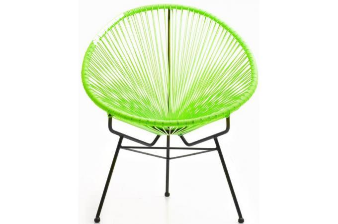 fauteuil vert en acier acapulco fauteuil design pas cher. Black Bedroom Furniture Sets. Home Design Ideas