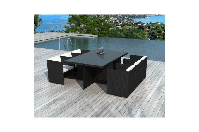 Table Et Chaises De Jardin Noires En R Sine Tress E Alix