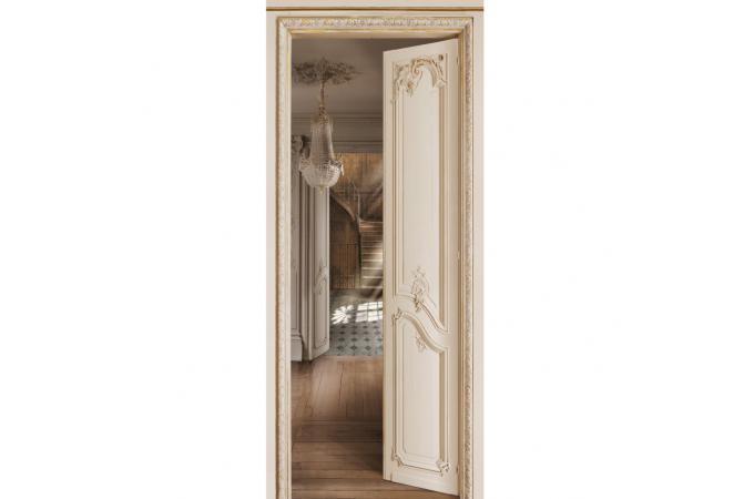 Papier peint escalier beige louis xv papier peint trompe for Papier peint trompe oeil porte